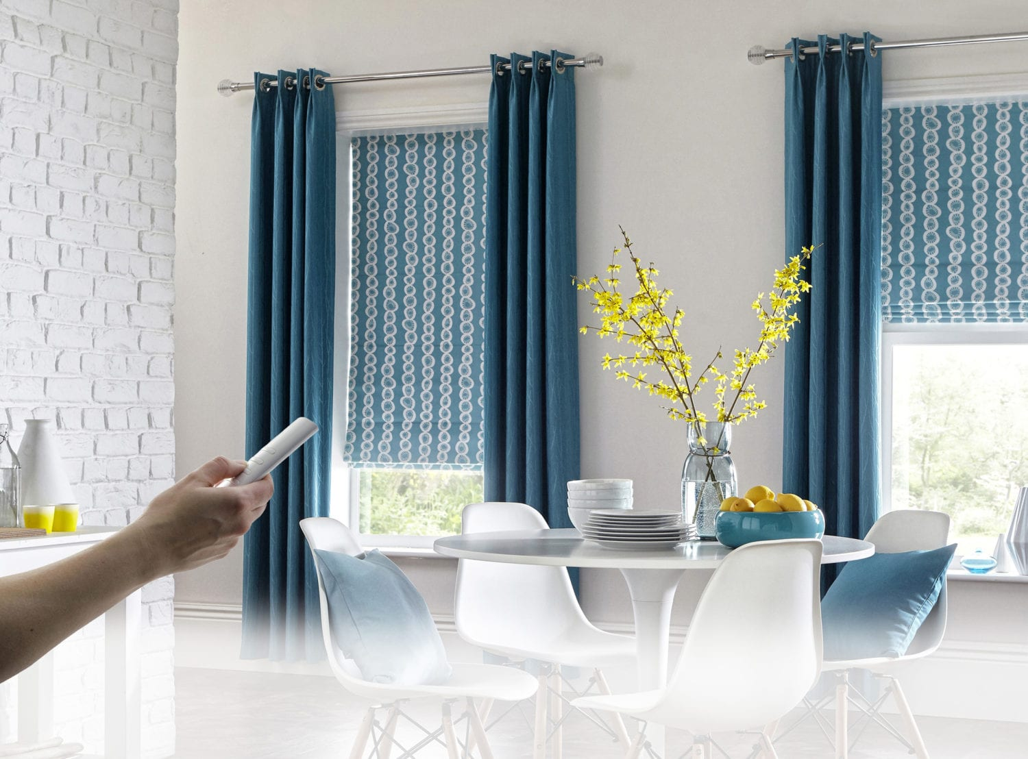 0761fc534e24 Sherwood-Teal-Curtain_Nirvana-Cobalt-ROMAN-POWERSHADE · powershade  motorised blinds bolton